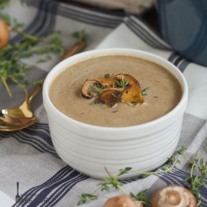 mushroom and sherry bisque