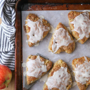 apple chia scone